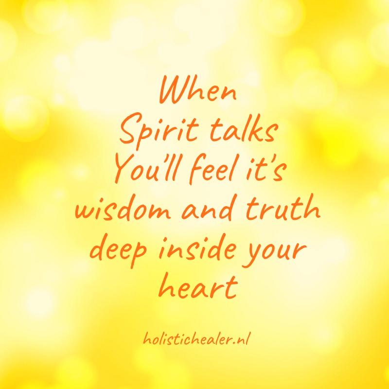 Spirit talks Holistic Healer Utrecht